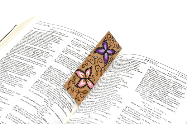 Butterfly wooden bookmark