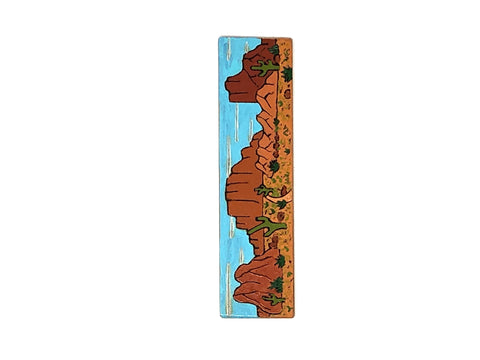 desert landscape wooden bookmark