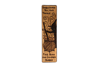 double double toil and trouble wooden bookmark