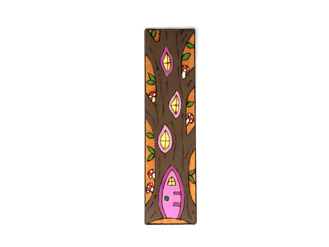 fairy tree house bookmark