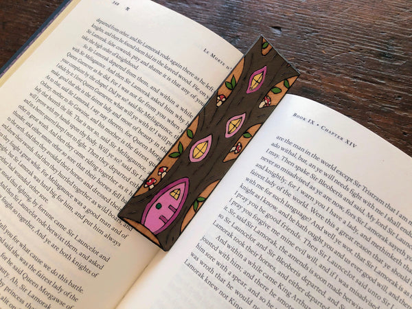 fairy house wooden bookmark