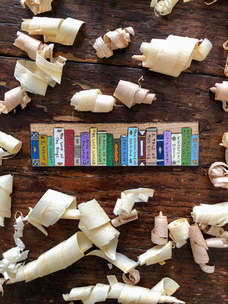 wooden booklover bookmark