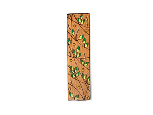 green leaf wooden bookmark