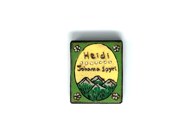 heidi wooden book magnet