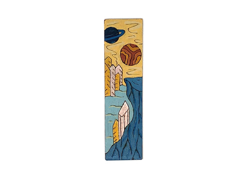 ice planet wooden bookmark
