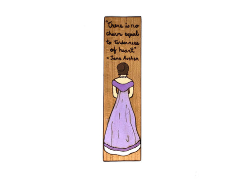 jane austen wooden bookmark