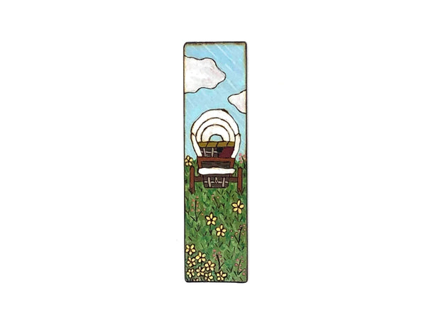 little house on the prairie wooden bookmark