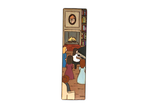 little women wooden bookmark