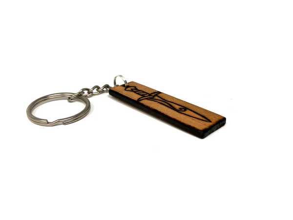 lord of the rings sting wooden keychain