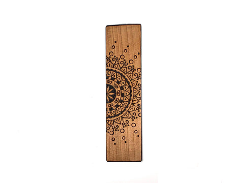 mandala wooden bookmark