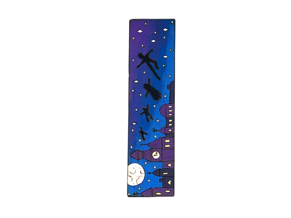 peter pan wooden bookmark