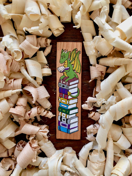 reading dragon bookmark