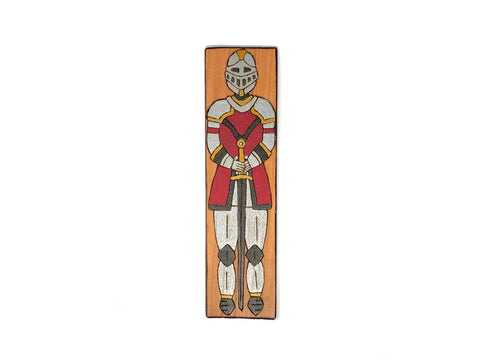 knight wooden bookmark