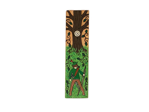 robin hood wooden bookmark