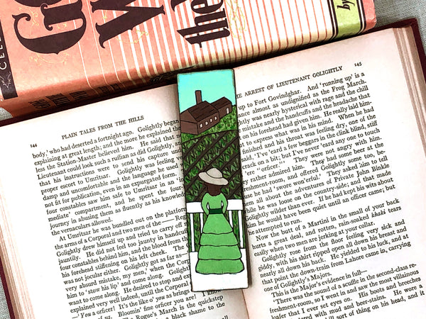 gone with the wind wooden bookmark