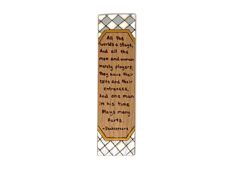 shakespeare quote wooden pyrography bookmark