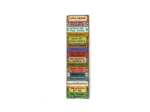 stack of books bookmark