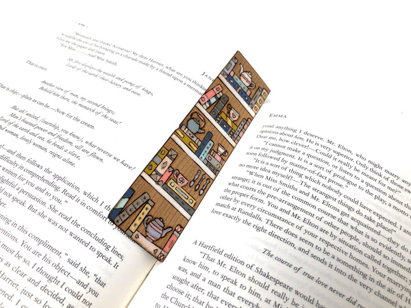 Teacup Bookshelf Bookmark