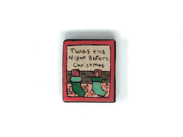 christmas wooden magnet