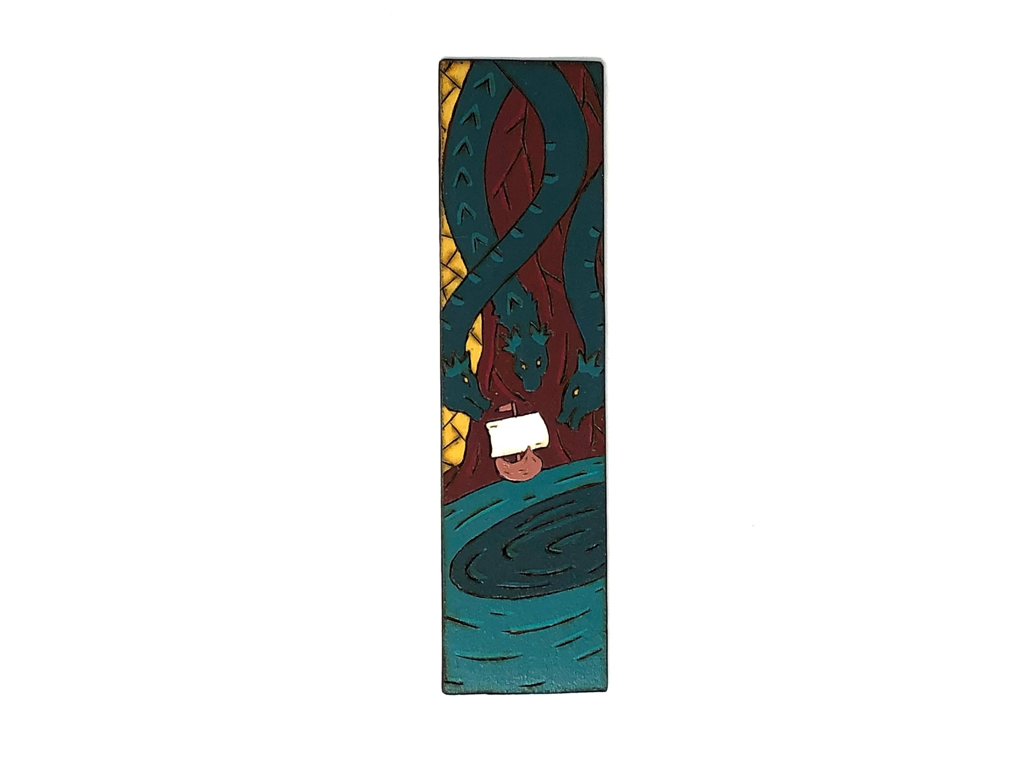 the odyssey wooden bookmark