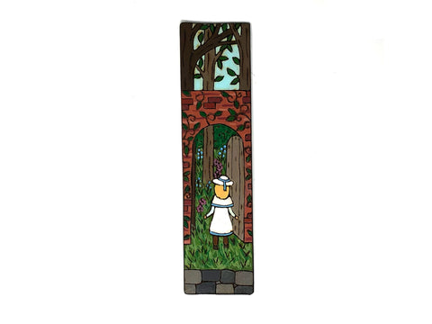 the secret garden wooden bookmark