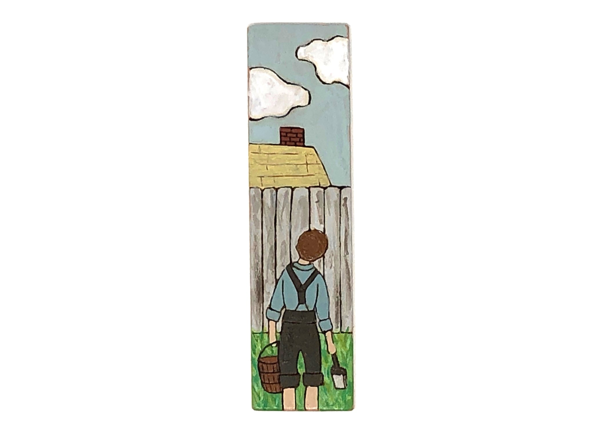 tom sawyer wooden bookmark