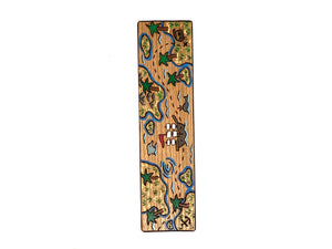 treasure island wooden bookmark