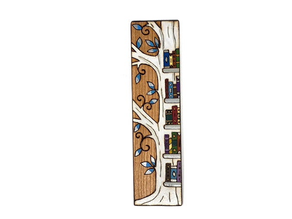 tree bookshelf wooden bookmark