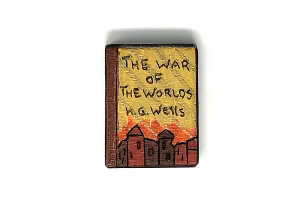 the war of the worlds wooden book magnet