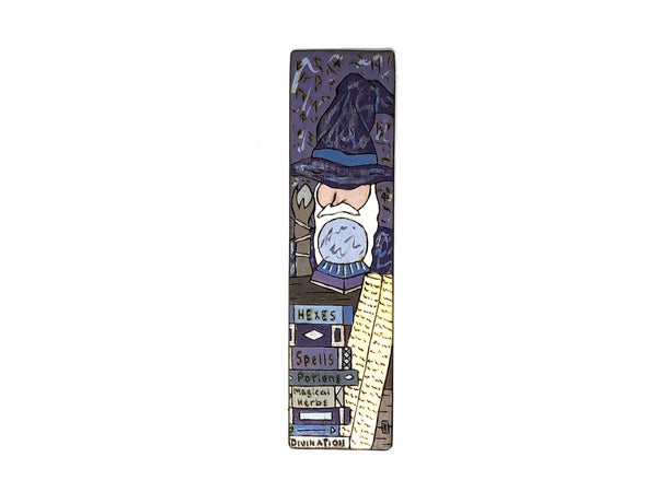 wizard fantasy wooden bookmark