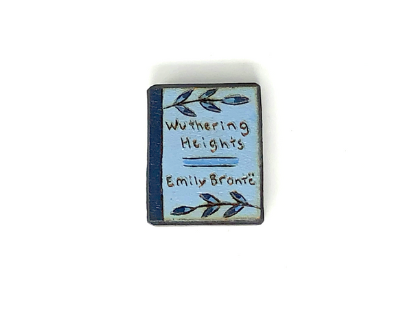 wuthering heights wooden book magnet