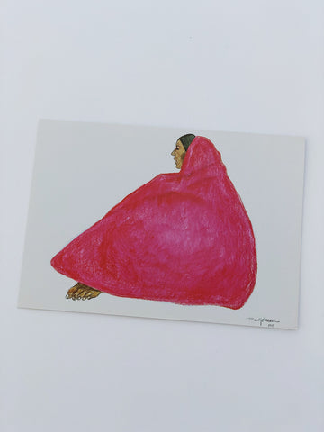 Woman in Red Greeting Card