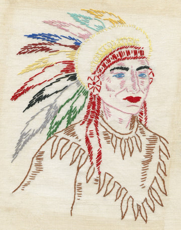 Embroidered Chief Print