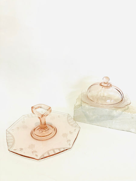 Rose Glass Serveware