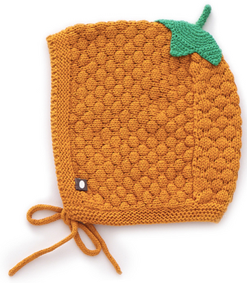 Honeycomb Knit Hat Ochre