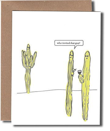 Cactus Party Greeting Card