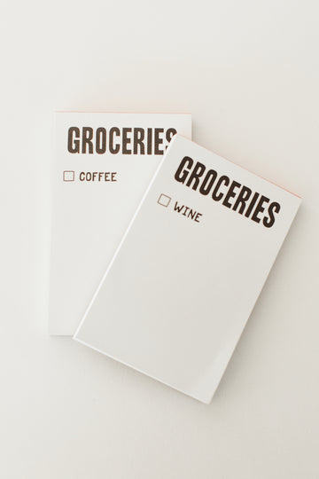 Groceries/Coffee Pad