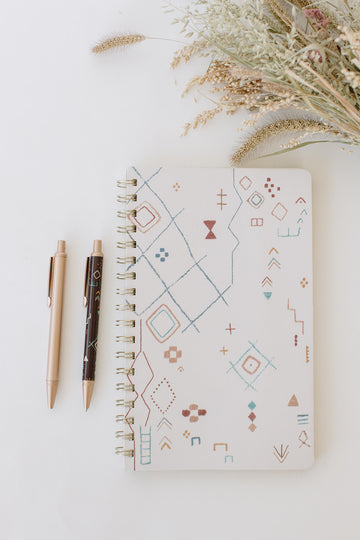 Tribal Marks Spiral Notebook