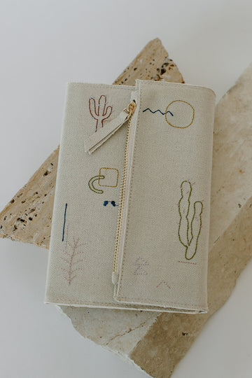 Embroidered Clutch Journal