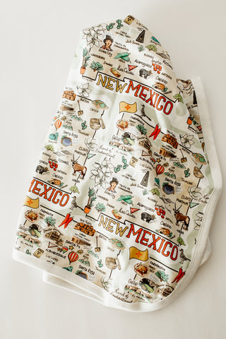 New Mexico Map Baby Blanket