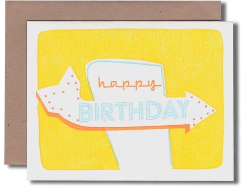 Signage/Yellow Bday Card
