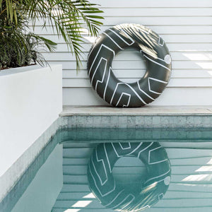 Abstract Oversized Pool Tube