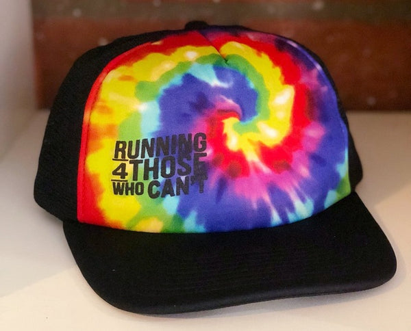 Elevated Series Trucker Hat | Rainbow Tie-Dye Print