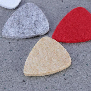 BassGears 10 Pcs Assorted Color Felt Picks