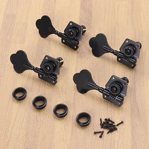 BassGears 4pcs Black Bass Tuners
