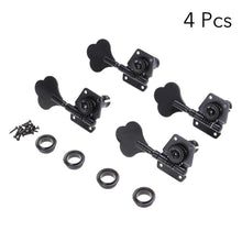 Load image into Gallery viewer, BassGears 4pcs Black Bass Tuners