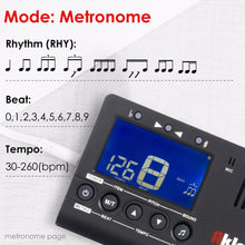 Load image into Gallery viewer, BassGears Aklot Guitar Tuner Metronome 3 in 1