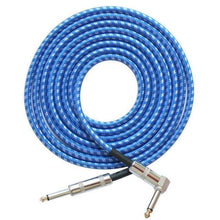 Load image into Gallery viewer, BassGears Blue White 6.5mm Jack Audio Cable Professional Noise Free 3 Meters/10ft
