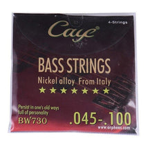 Load image into Gallery viewer, BassGears BW730  4 strings Caye Bass Guitar Strings