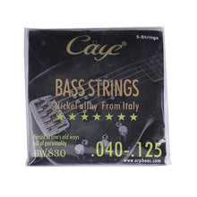 Load image into Gallery viewer, BassGears BW830  5 strings Caye Bass Guitar Strings